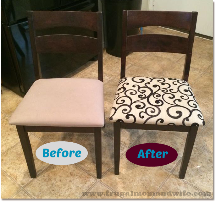 Frugal Mom And Wife: How To Reupholster Kitchen & Dining