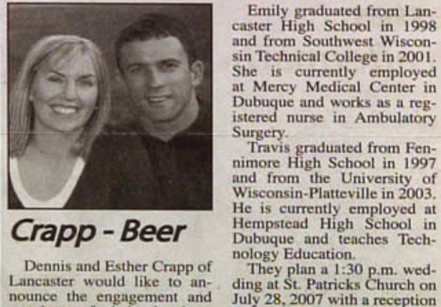 22 Funny Wedding Announcement Name Combos on Newspapers in the Past ...