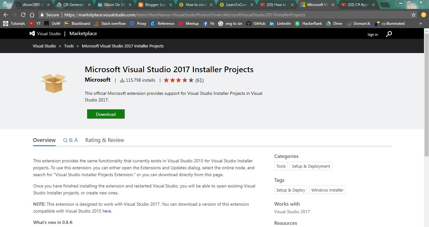 How to create a setup file of your project using Visual