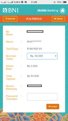 Beli Token Listrik Via BNI Mobile Banking dan Internet Banking