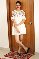 Lavanya Tripathi in Summer Style Spicy Short White Dress at her Interview  Exclusive 173.JPG