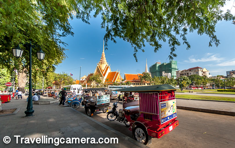 Moto - This is very interesting that people on bikes keep asking you for ride. It's common in Cambodia if you are alone, because there are bikes who drop you at your destination by charging reasonable fee. The cost is usually 2000r to $1.5 as they are usually good for small distances.