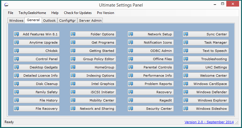 Ultimate Settings Panel version 2.0 Released 2