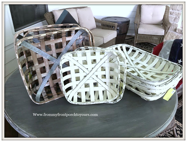 Hobby Lobby-Clearance-Tobacco Baskets-Farmhouse-Country-Home Decor-From My Front Porch To Yours