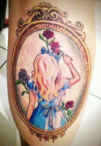 Alice pintura flores