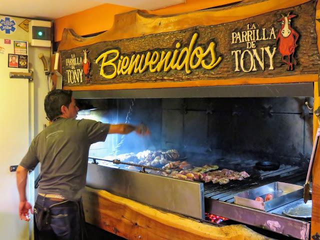 La Parrilla de Tony grill in Bariloche Argentina
