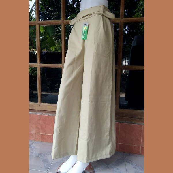 Celana Kulot Taipan Tropical (Serat Linen) Coklat Kekuningan