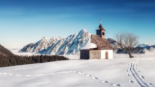 Alpine Winter Landscape