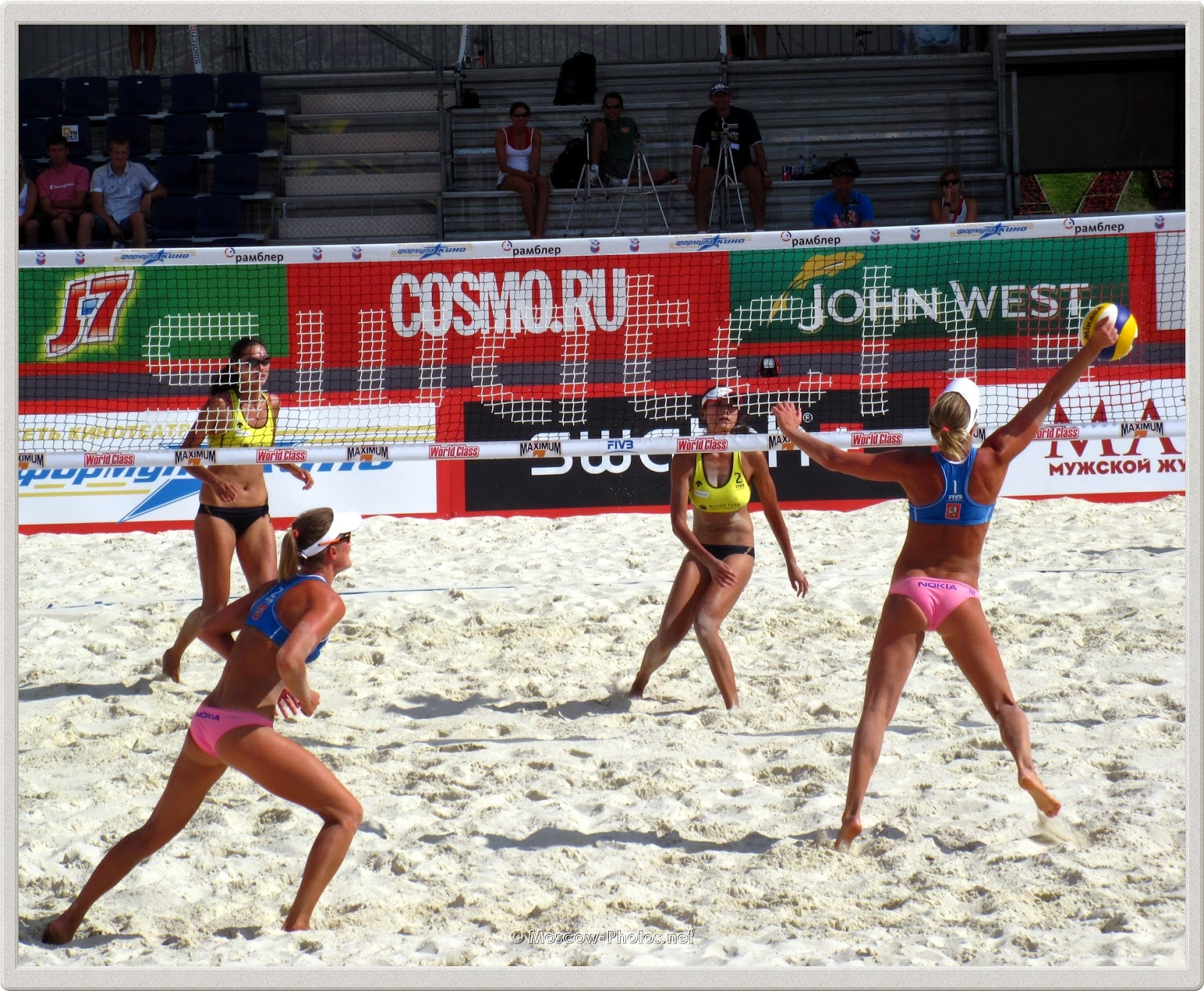 Defense of Finnish Women's Beach Volleyball Team