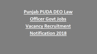 Punjab PUDA DEO Law Officer Govt Jobs Vacancy Recruitment Notification 2018
