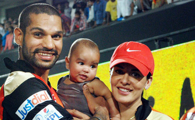 Shikhar Dhawan Images with His Wife