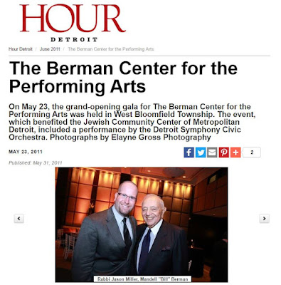 Jewish Philanthropist Bill Berman and Rabbi Jason Miller (Hour Detroit)