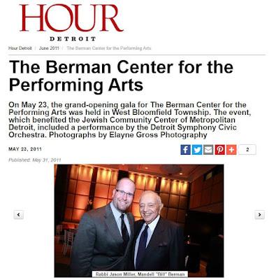 Jewish Philanthropist Bill Berman and Rabbi Jason Miller (Hour Detroit)