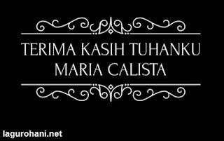 Download Lagu Rohani Terima Kasih Tuhan (Maria Calista)