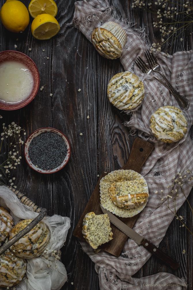 Muffins limón y semillas amapola