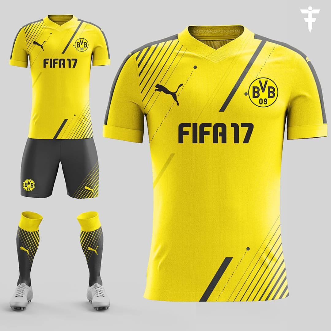 98c628682 FTH: Borussia Dortmund FIFA 17 Fantasy Kit