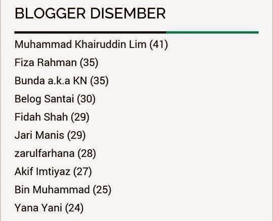 Blogger Mesra Bulan Disember 2014
