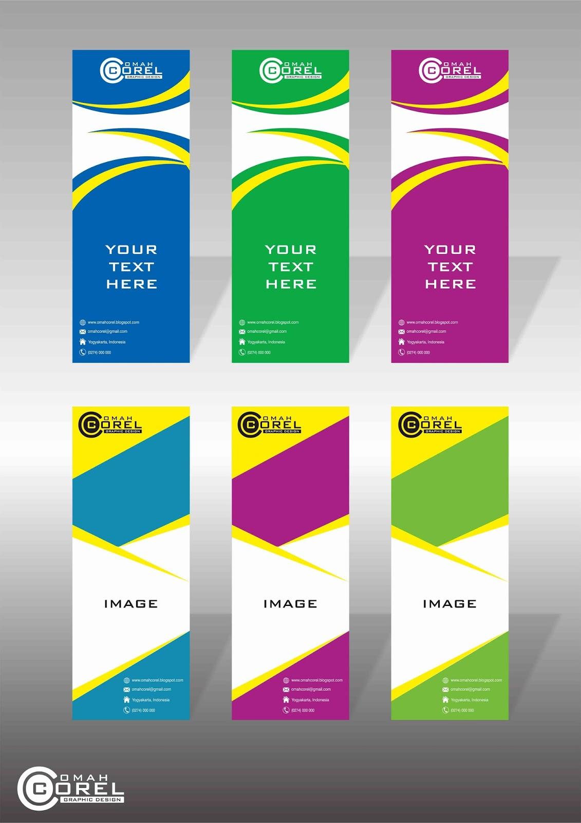 Desain Background X-Banner Vektor CDR | Omah Corel