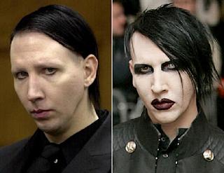 fotos de famosos antes e depois da maquiagem - marilyn manson