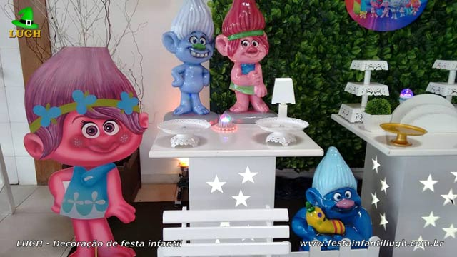 Decoração de festa tema Trolls - Aniversário infantil
