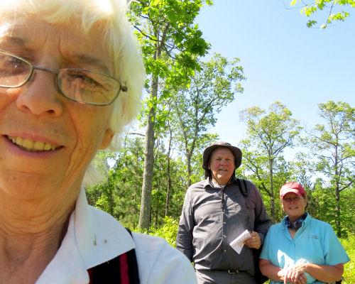 hiker selfie