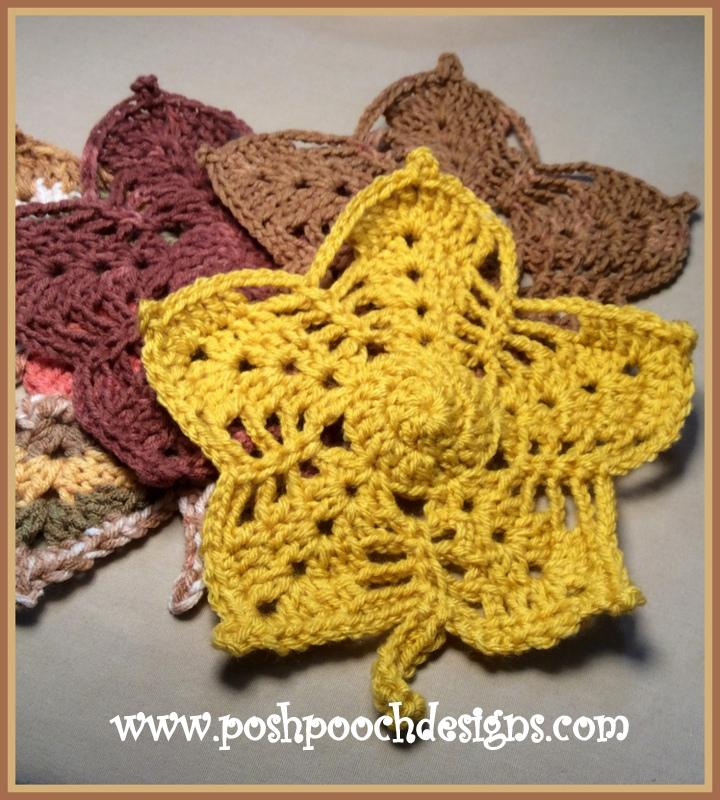 Posh Pooch Designs Dog Clothes Maple Leaf Washcloth Or Doily