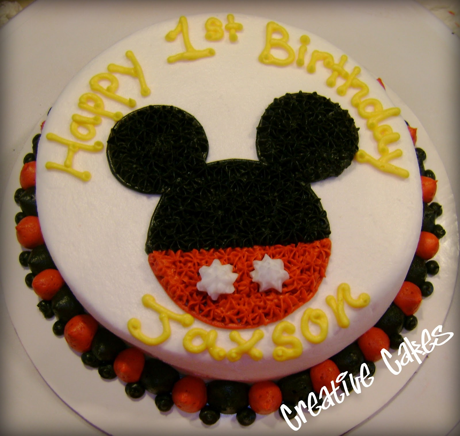 Mickey Mouse Smash Cake: Creative Cakes: Mickey Mouse Smash Cake And Cupcakes