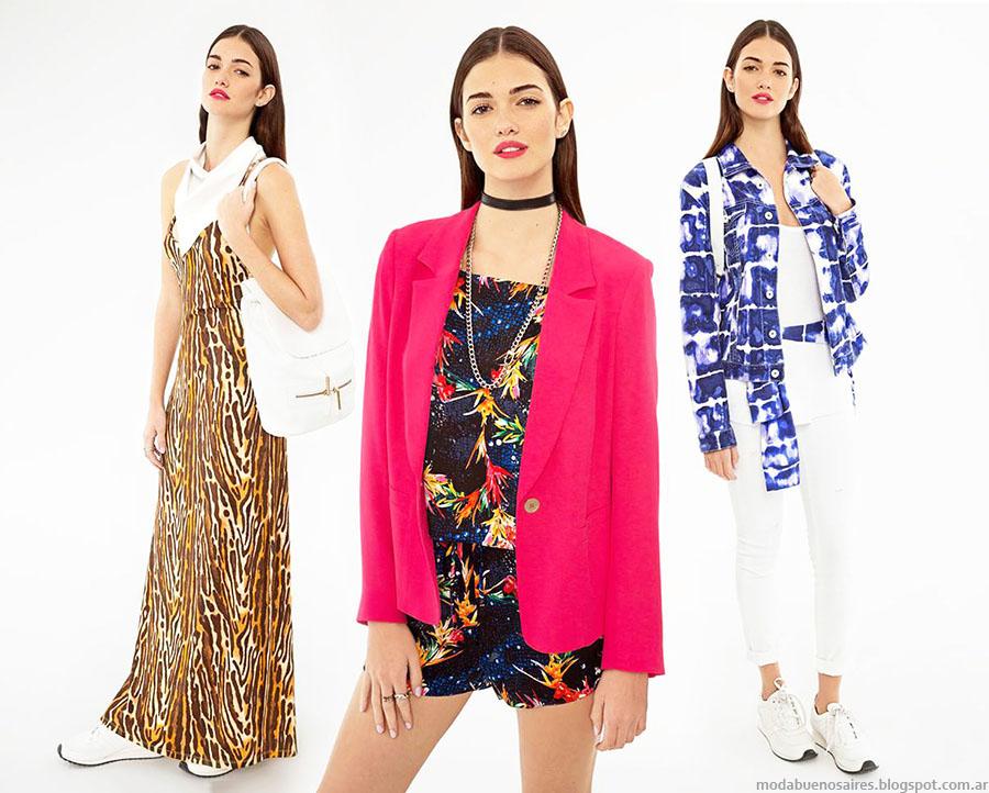 b61a617e5 Moda primavera verano 2016. Ayres primavera verano 2016 ropa de mujer.  Estampas ...
