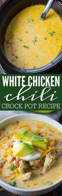 White Chicken Chili Crock Pot Recipe