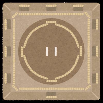 相撲の土俵のイラスト
