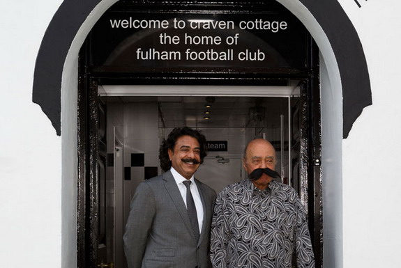 Mohamed Al-Fayed dons fake moustache welcoming new Fulham owner