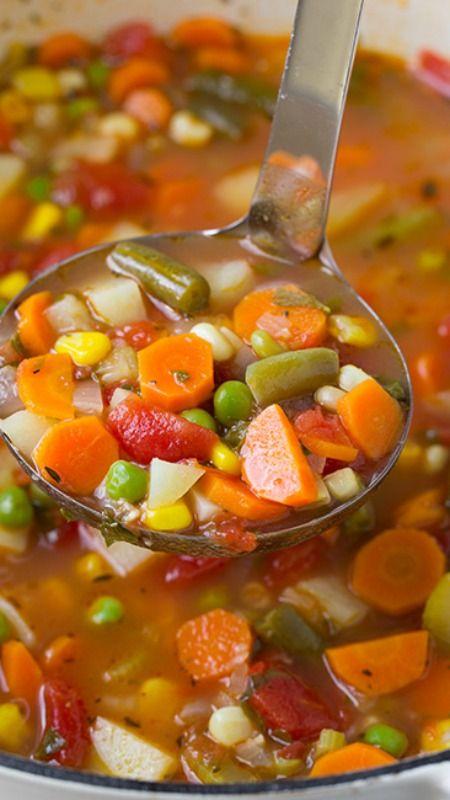Vegetable Soup #vegetable #vegetablesoup #soup #souprecipes #healthysouprecipes #healthysoup