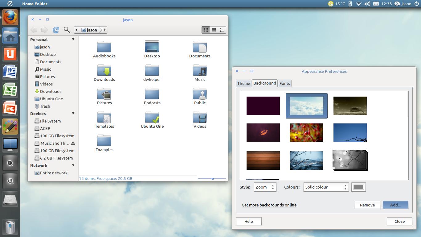 Few Ubuntu Unity Desktop Themes