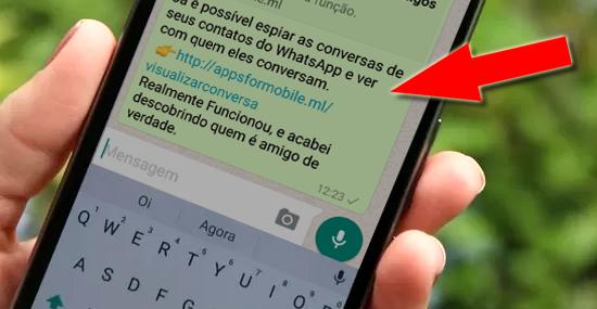 WhatsApp Espião promete revelar conversas de amigos - Golpe WhatsApp - Capa