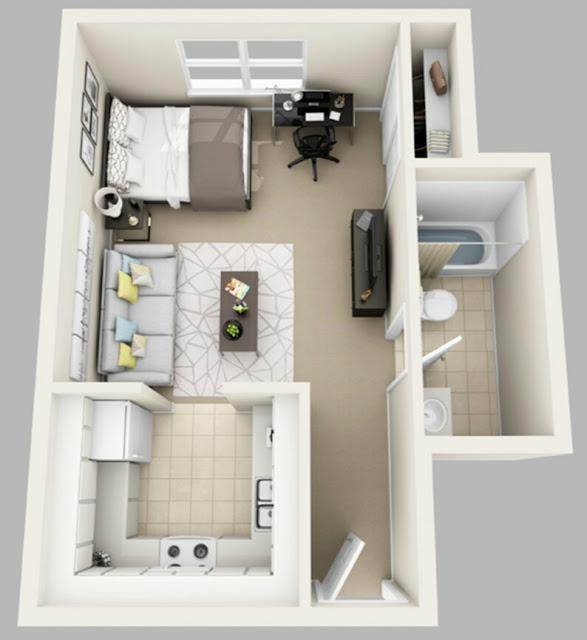 Koleksi Contoh Desain Interior Rumah Minimalis Type 30 Terbaru