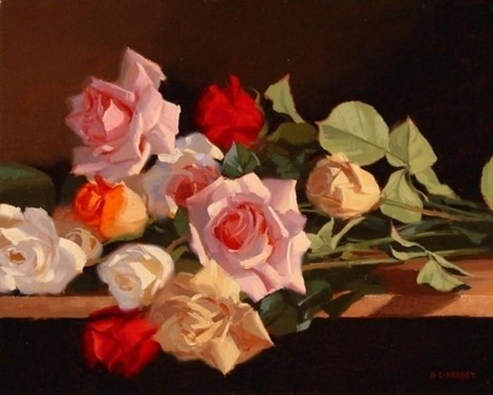 Рисунки цветов. Laurie Kersey 19