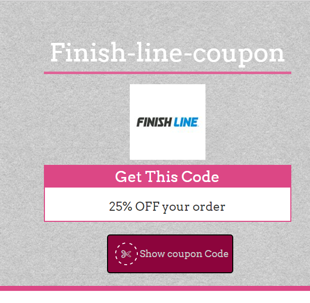 Finish line 35% Coupon Code May 2017