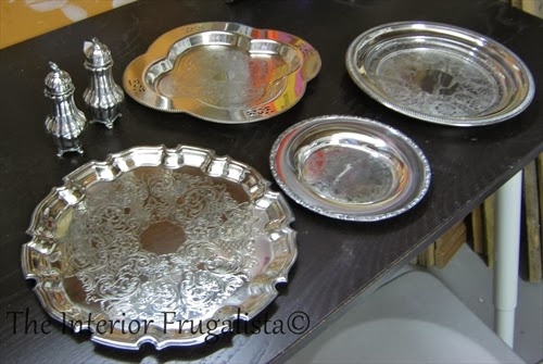 Silver plates found at the thrift store after polished.