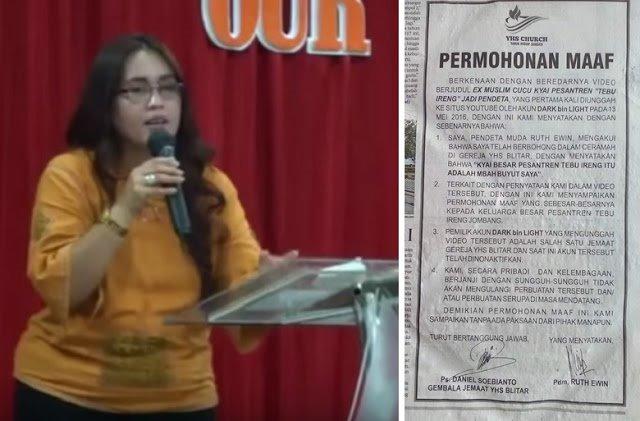 Dituntut Pihak Ponpes, Pendeta Yang Mengaku Keturunan Kyai Tebu Ireng Ini Minta Maaf Di Media Massa