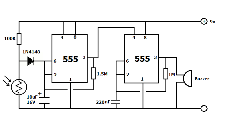 fridge door open alarm circuit project
