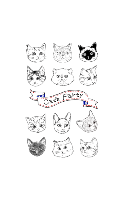 Cat's Party ~Three colors version.~