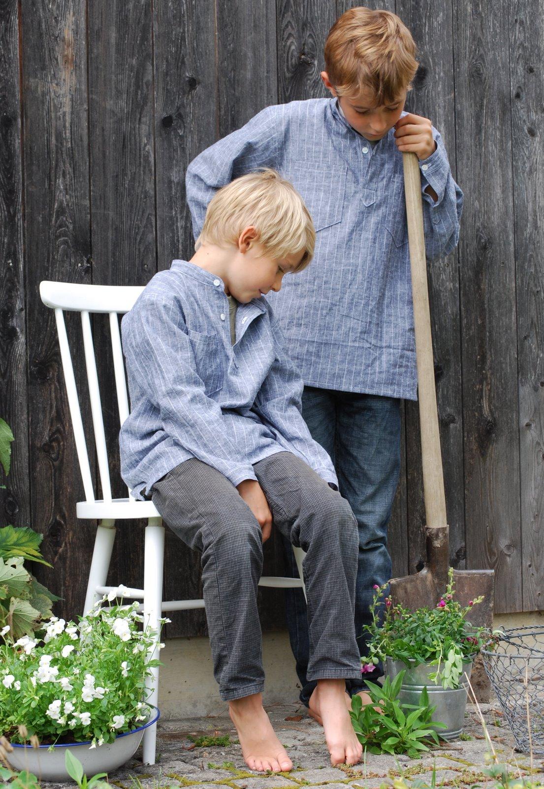 mamas kram: Gartenarbeit in neuen Hemden