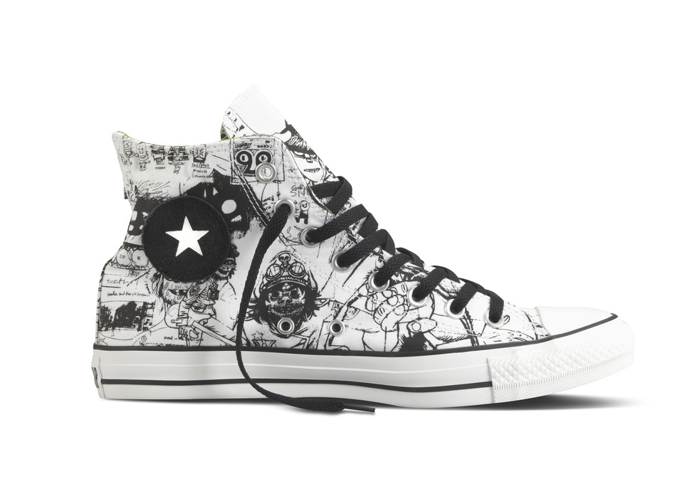 CONVERSE Inc. unveiled four distinct design concepts for the newest  footwear collaboration with the world-famous virtual band 52d06e370