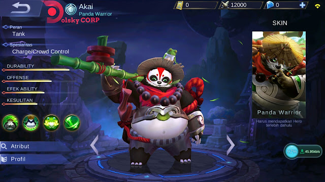 Mobile Legends : Hero Akai ( Panda Warrior ) Tanker Builds Set up Gear