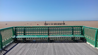 Bench at the end of Saint Annes Pier