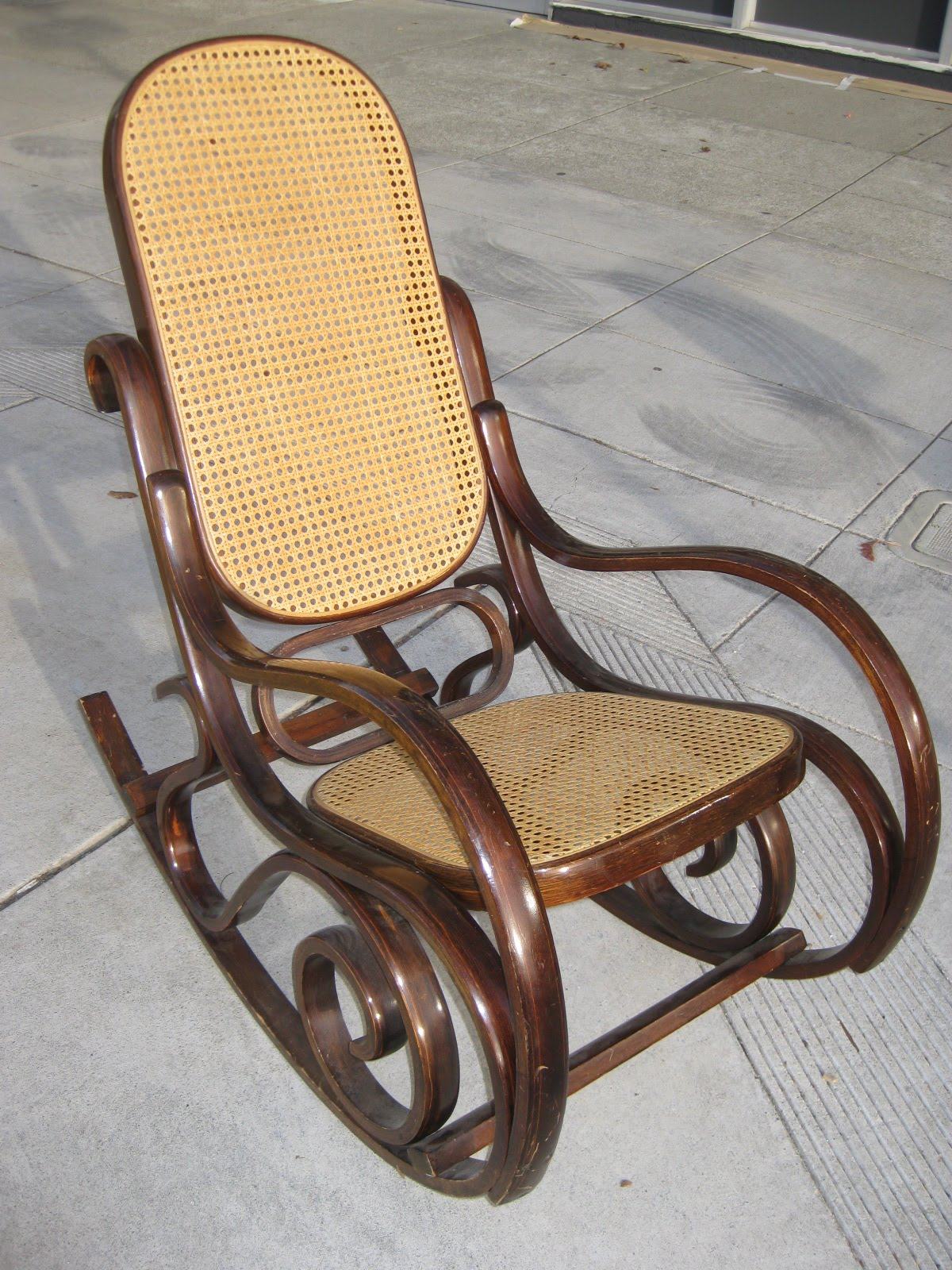 rocking chair rockers big comfy chairs the design pages painted bentwood rocker