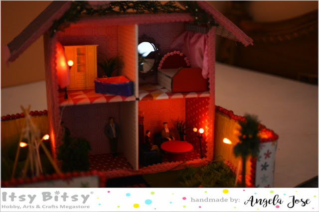 dollhouse, diy dollhouse, dollhouse tutorial, itsybitsy india