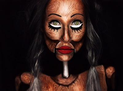 halloween makeup, illusion makeup, halloween, sfx makeup, skull makeup, halloqueen, doll makeup, cartoon makeup, demon makeup, floating head, pop art, pop art makeup, pintrest, nyx cosmetics, makeup look, creepy makeup, beauty bay
