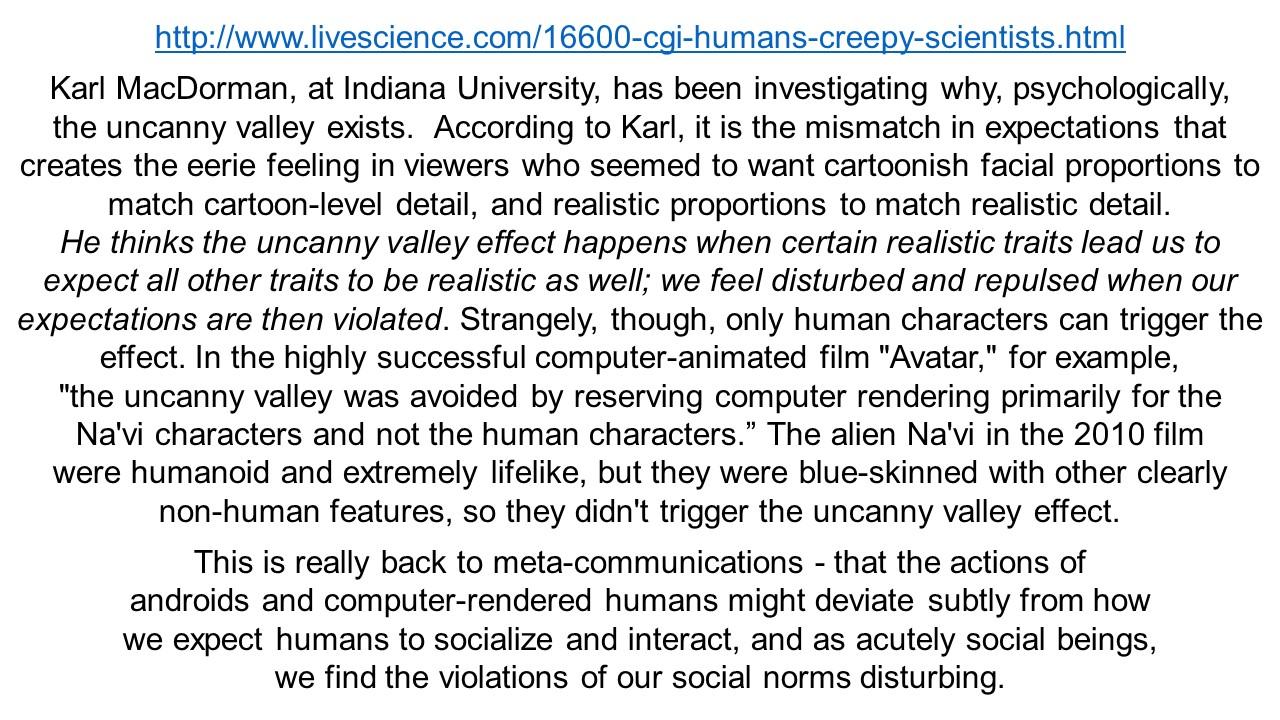 ektalks: The Uncanny Valley - Cognitive Dissonance and ...
