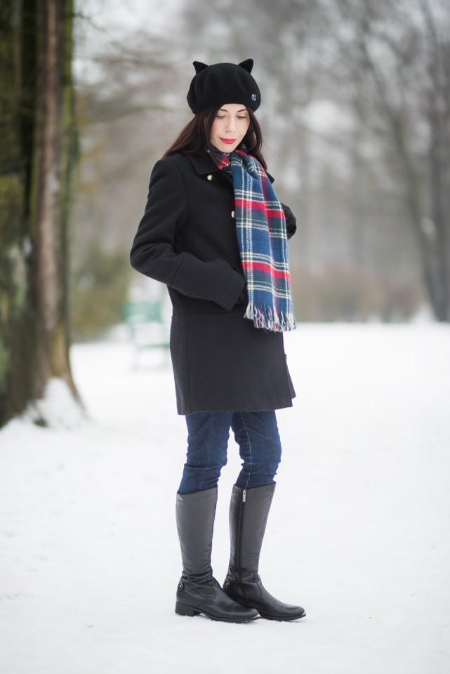 blogerka radzi jak nosić berety zimą